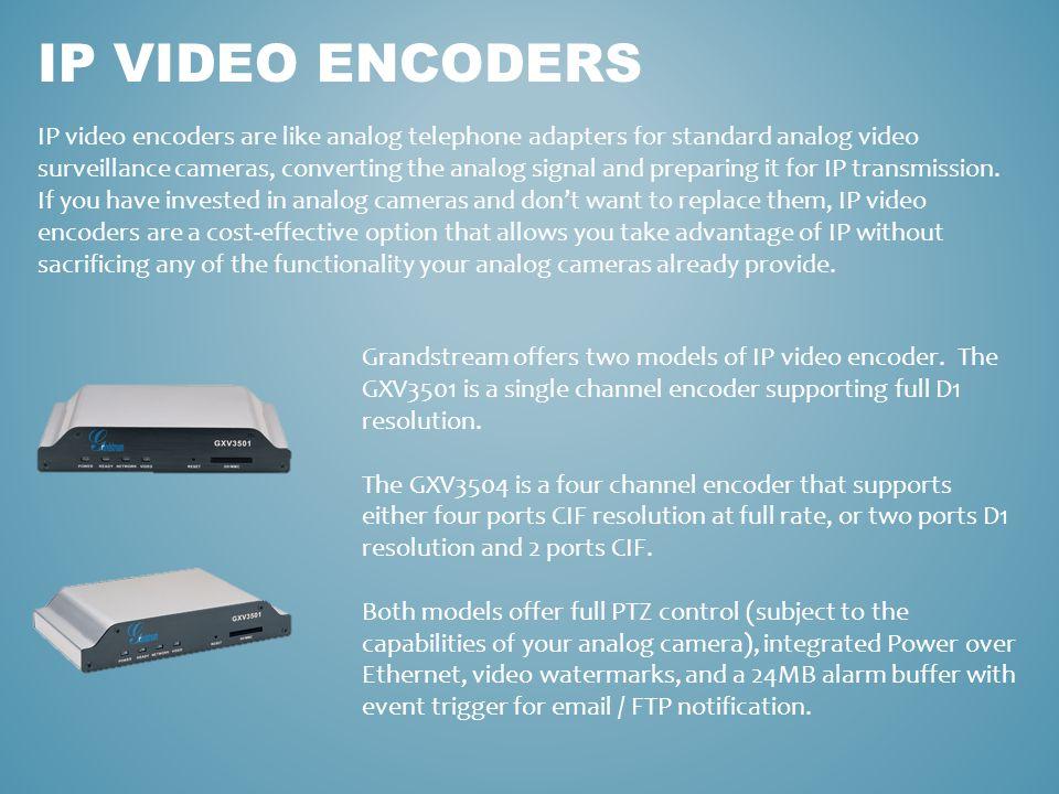 IP video encoders