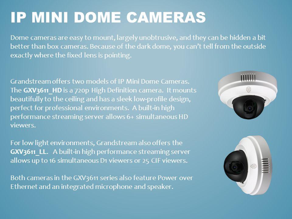 IP Mini dome CAMERAS