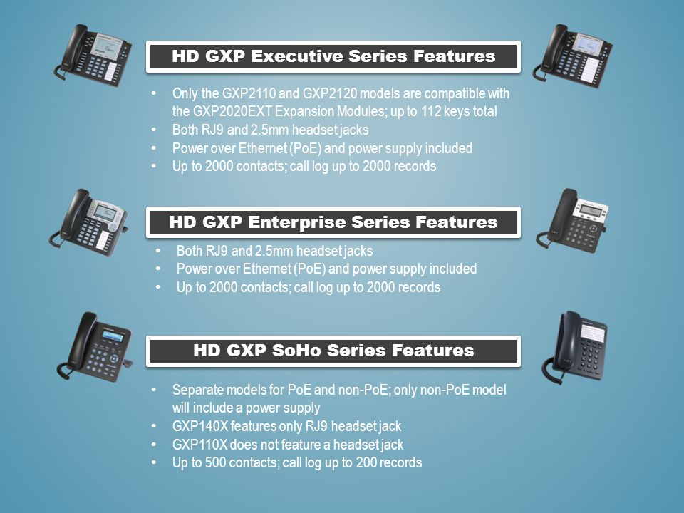 HD GXP Executive Series Features