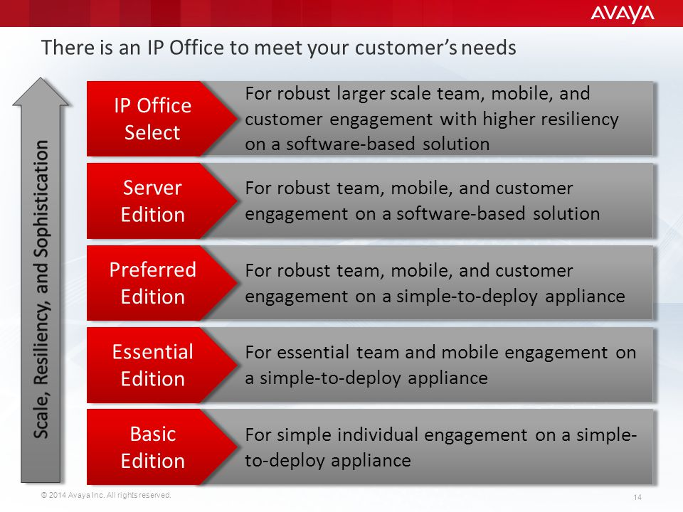 There is an IP Office to meet your customer's needs