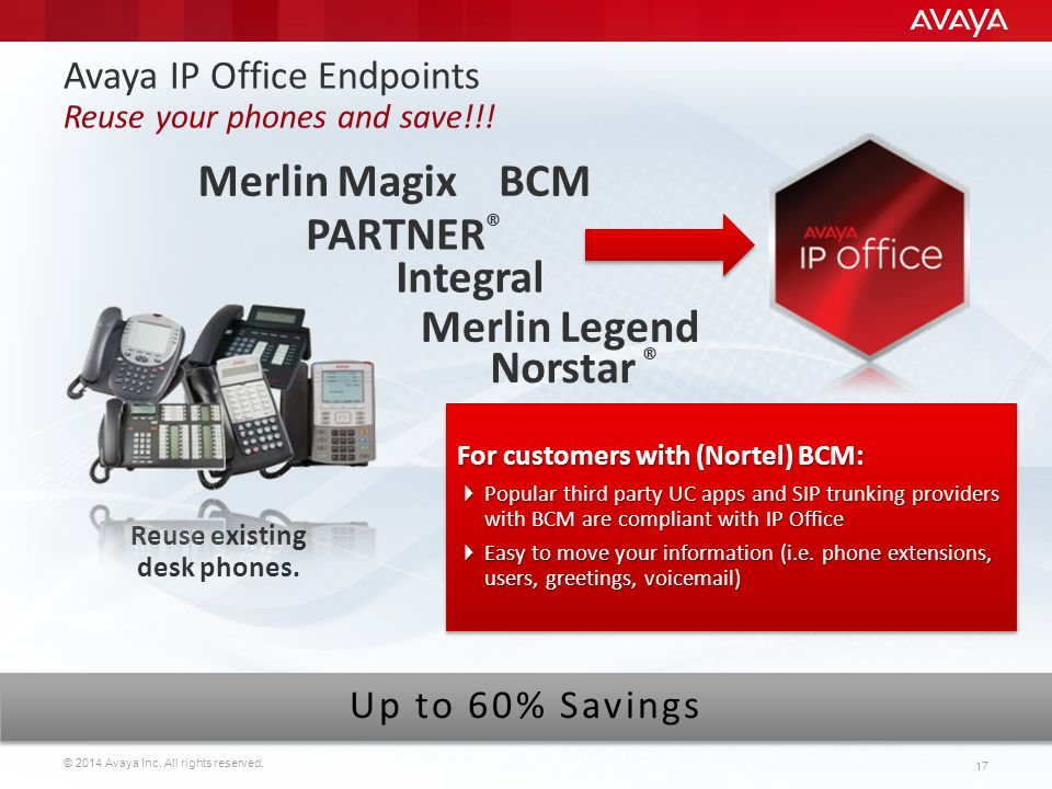 Avaya IP Office Endpoints Reuse your phones and save!!!