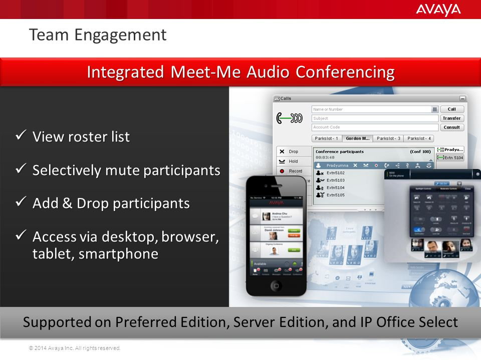Integrated Meet-Me Audio Conferencing