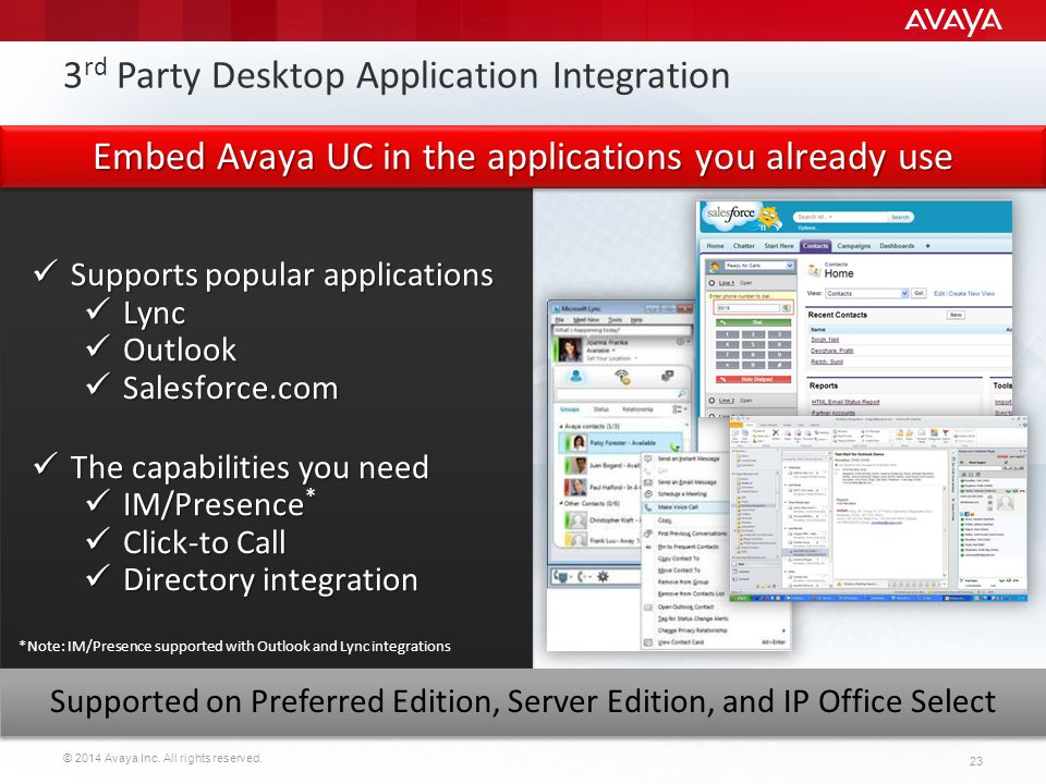 3rd Party Desktop Application Integration
