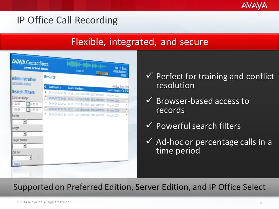 IP Office Call Recording
