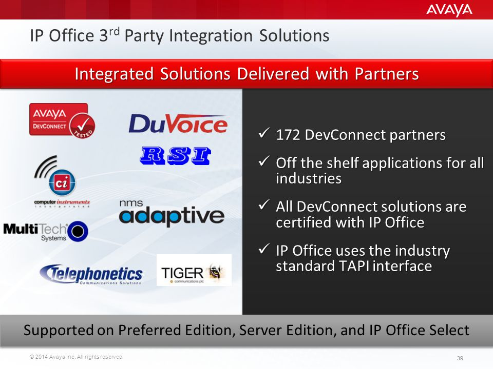 IP Office 3rd Party Integration Solutions