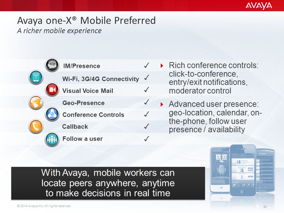 Avaya one-X® Mobile Preferred A richer mobile experience