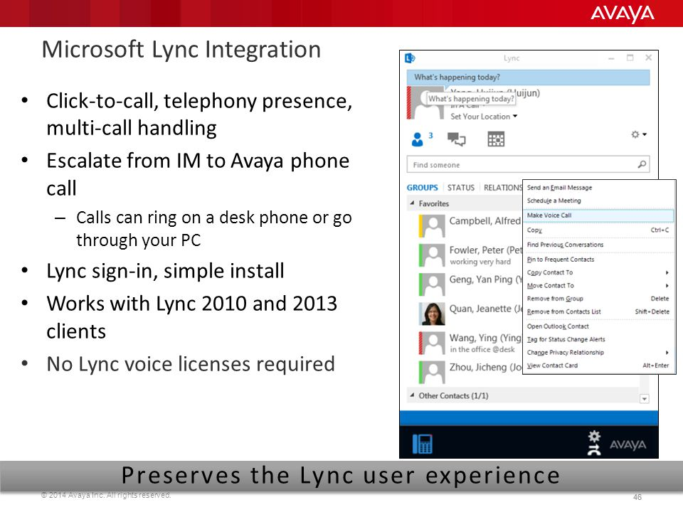Microsoft Lync Integration