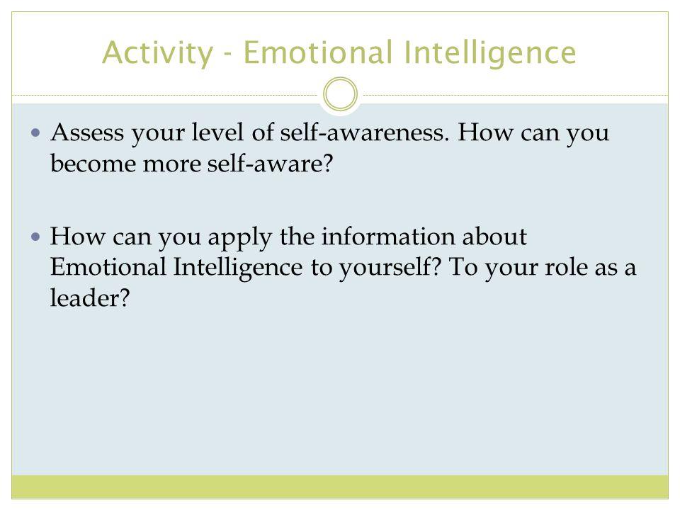 Activity - Emotional Intelligence