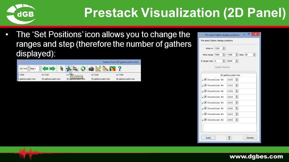 Prestack Visualization (2D Panel)