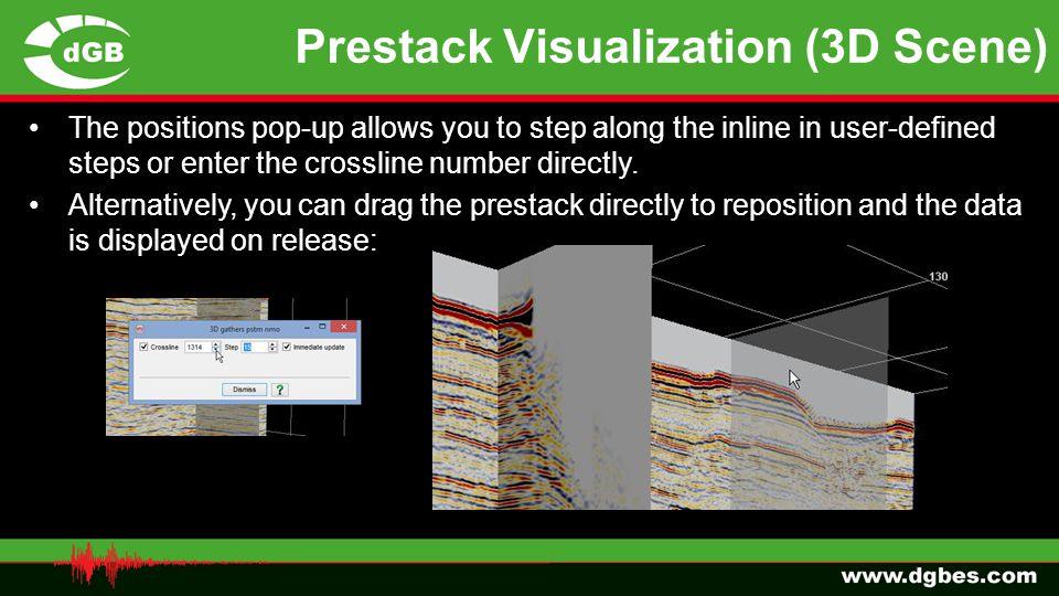 Prestack Visualization (3D Scene)