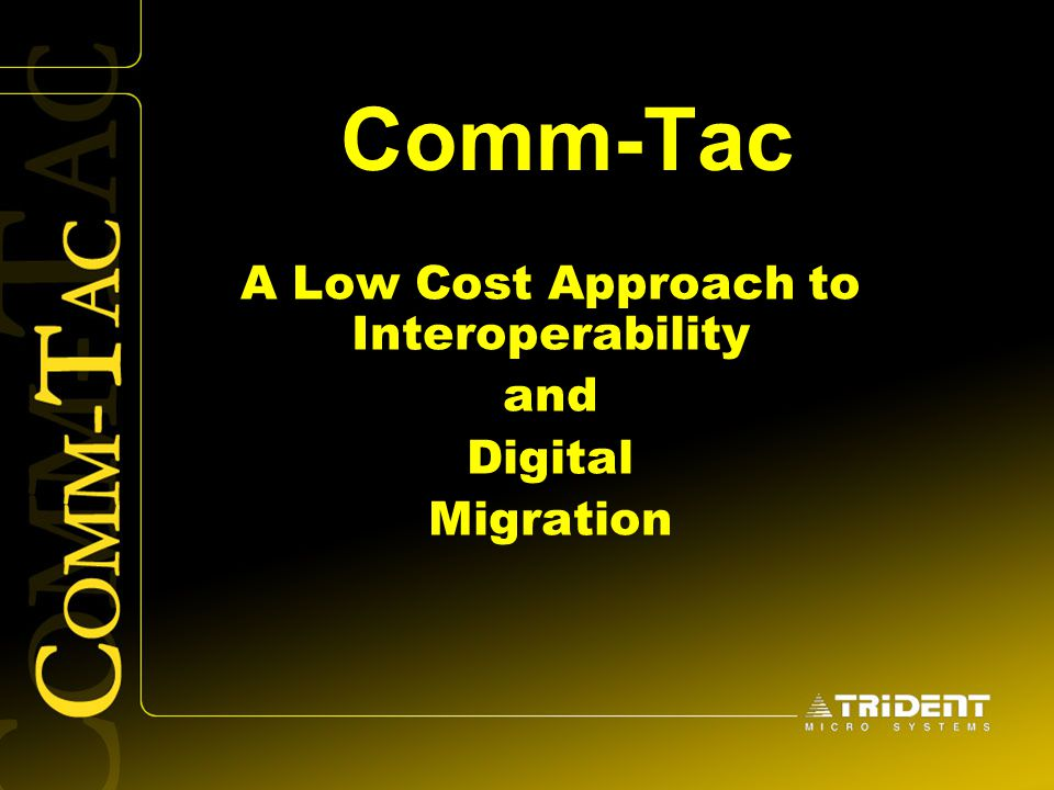 A Low Cost Approach to Interoperability and Digital Migration