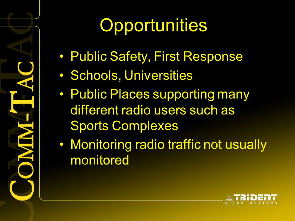Opportunities Public Safety, First Response Schools, Universities