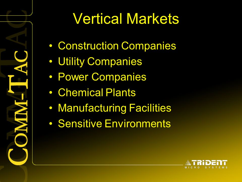 Vertical Markets Construction Companies Utility Companies