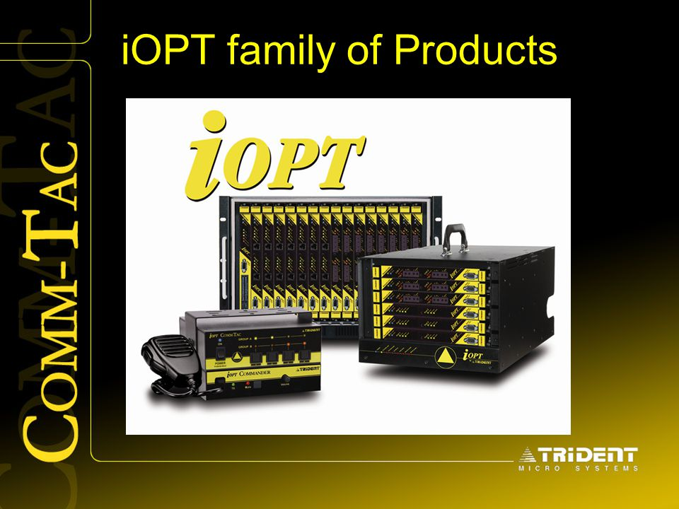 iOPT family of Products