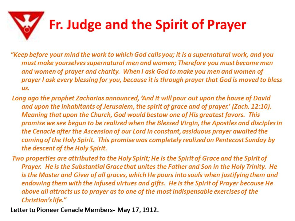 Fr. Judge and the Spirit of Prayer