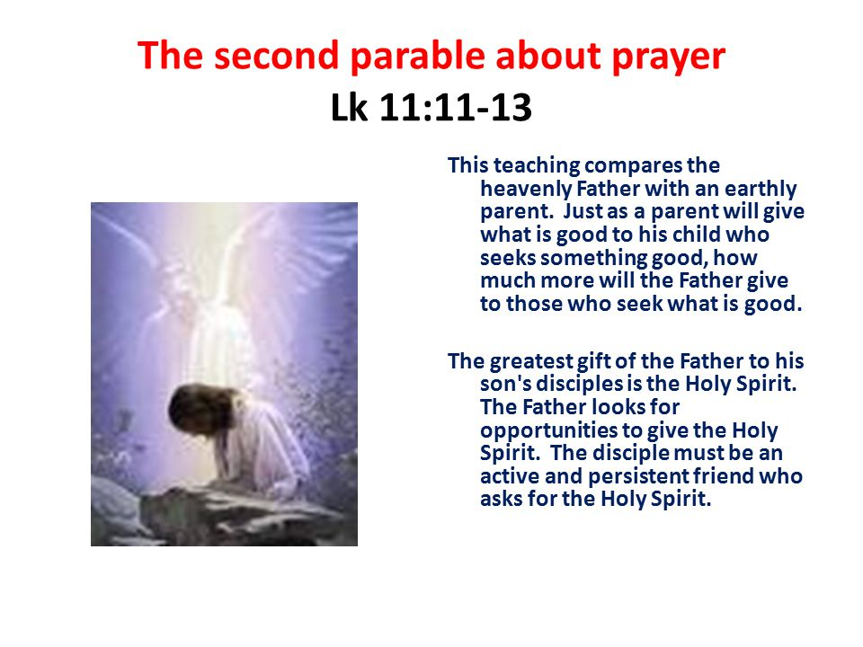 The second parable about prayer Lk 11:11-13