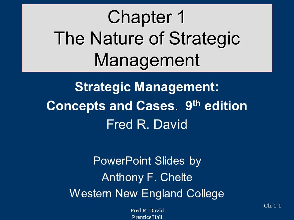 chapter 1 strategic management Download presentation powerpoint slideshow about 'chapter 1 strategic management & competitiveness' - tod an image/link below is provided (as is) to download presentation.