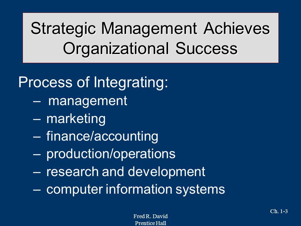 Strategic Management Achieves Organizational Success