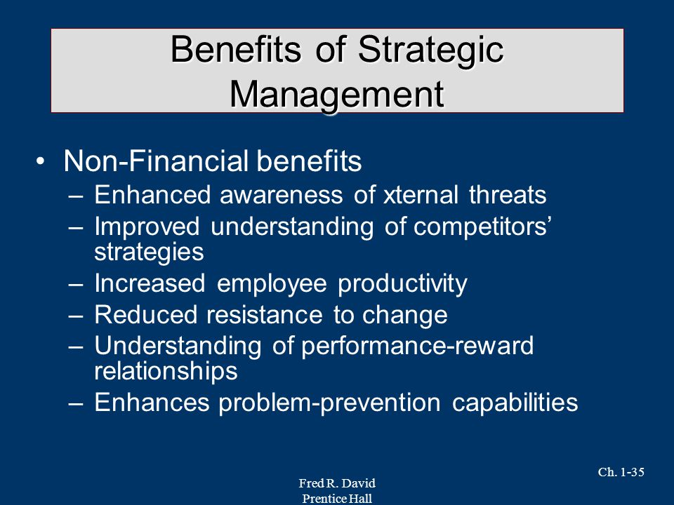 strategic management and financial performance Relationship between strategic management and financial crises impact on organizational performance arguably, strategic planning is an important aspect in.
