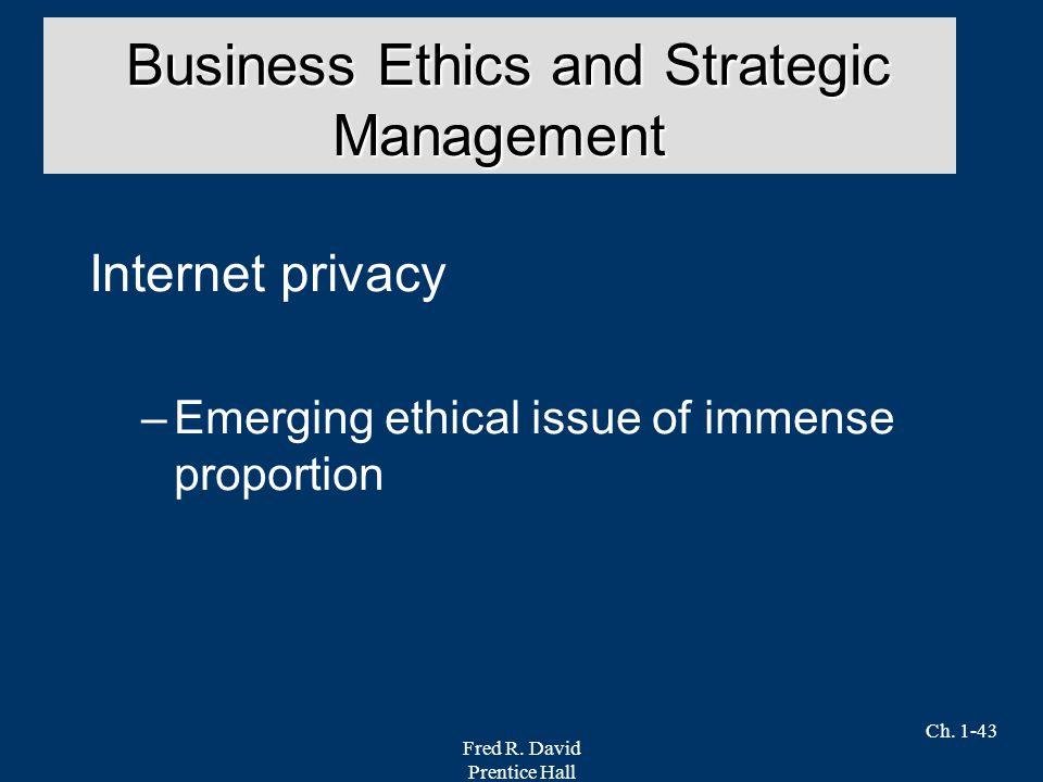 Business Ethics and Strategic Management
