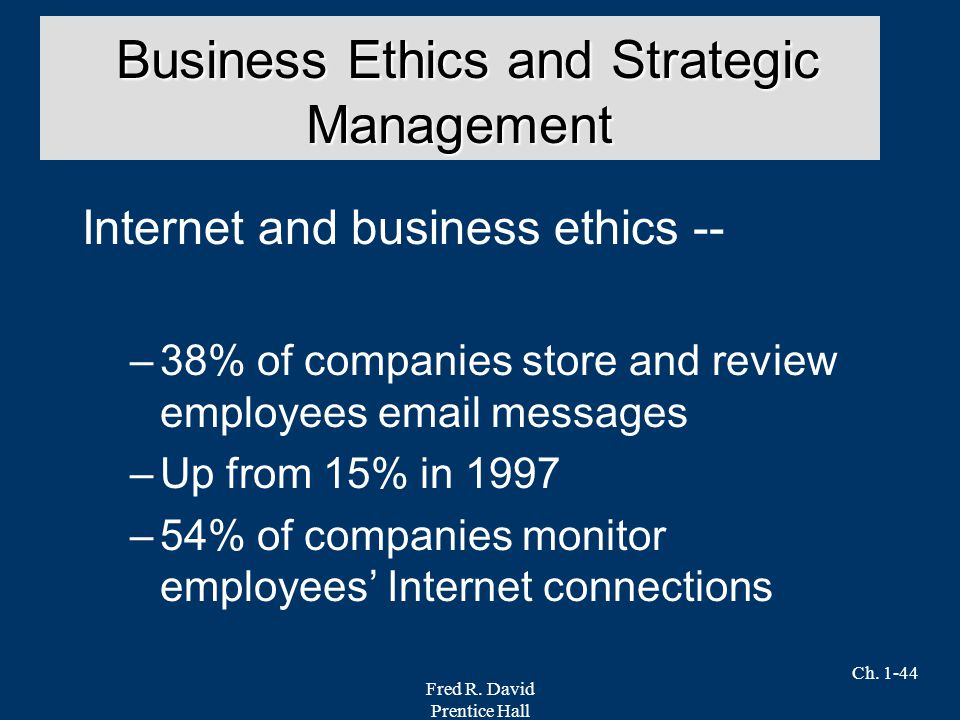 ethics strategic management 23082018 corporate governance has become a buzz word in the business management field owners of businesses of all sizes are.