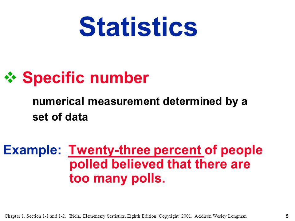 Statistics Specific number