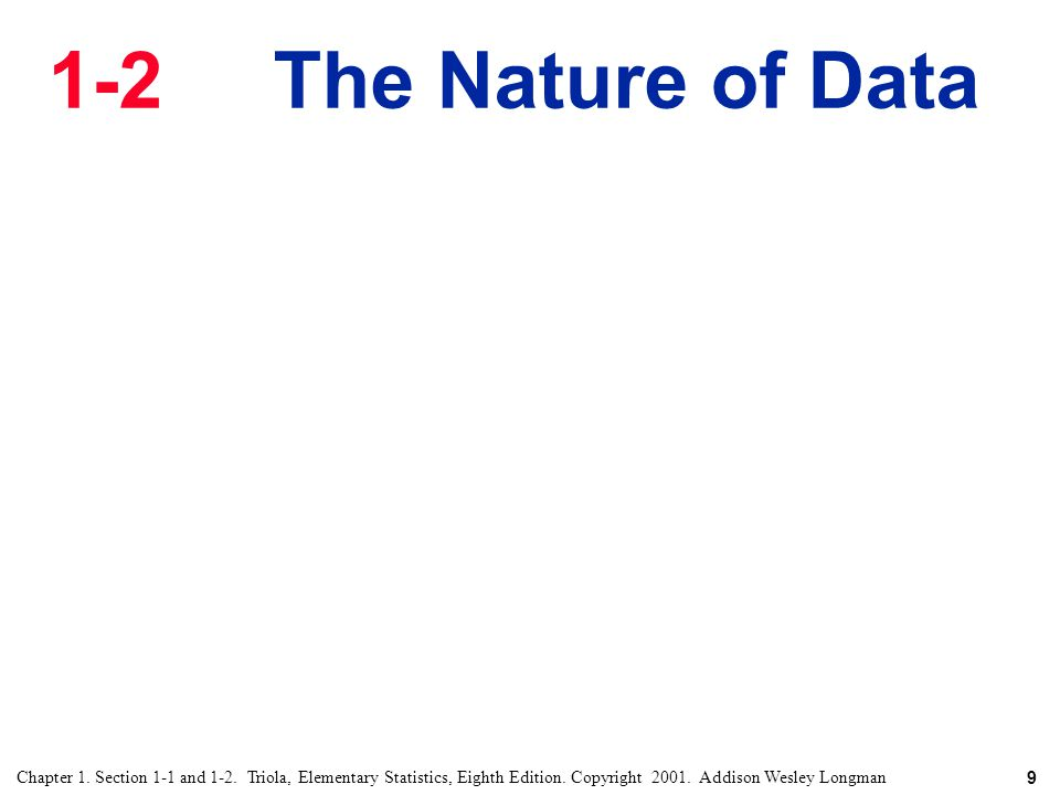 1-2 The Nature of Data