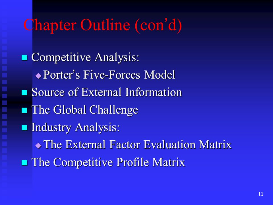 Chapter Outline (con'd)