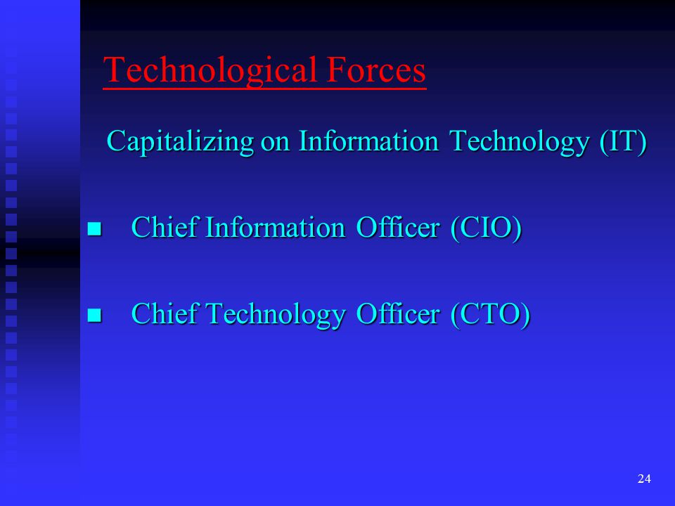 Capitalizing on Information Technology (IT)