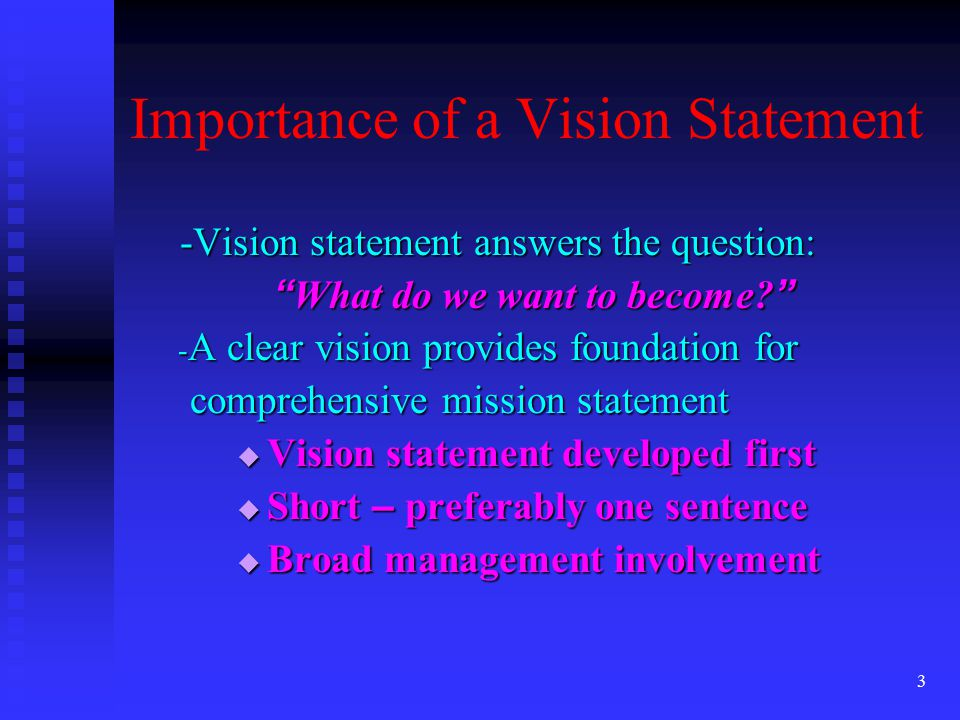 Strategic Management Outline Vision Mission  Ppt Download