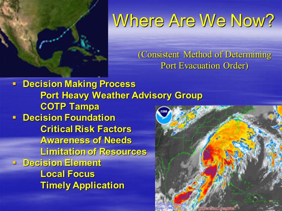 (Consistent Method of Determining Port Evacuation Order)