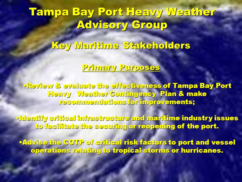 Tampa Bay Port Heavy Weather Advisory Group