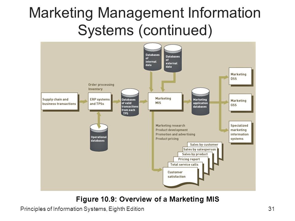 Marketing Management Information Systems (continued)