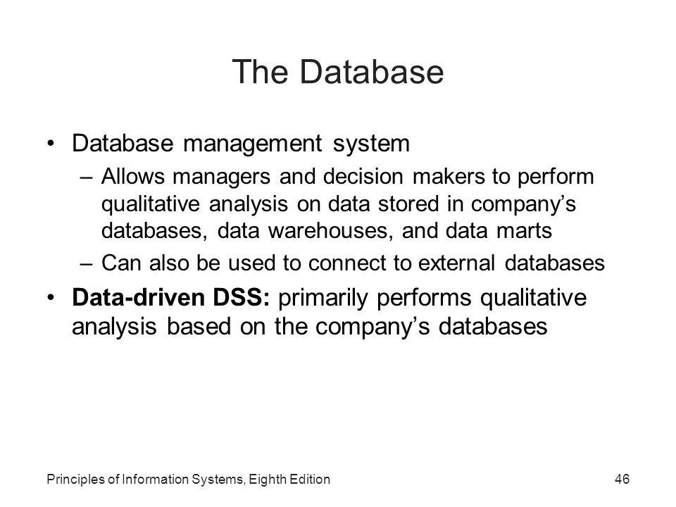 The Database Database management system