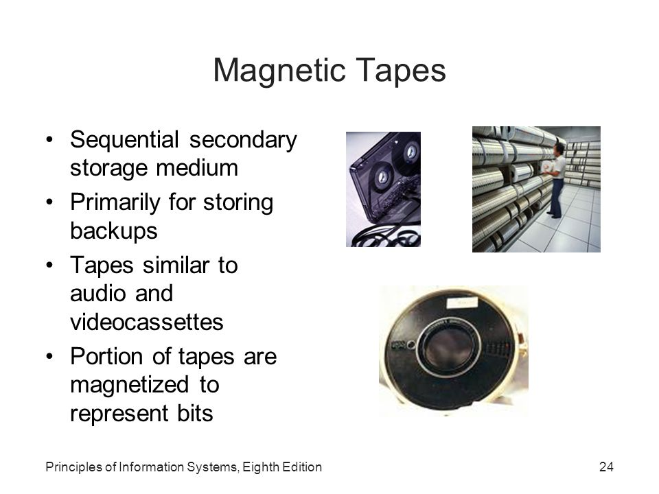 Magnetic Tapes Sequential secondary storage medium