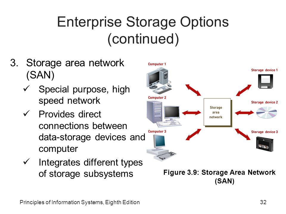Enterprise Storage Options (continued)