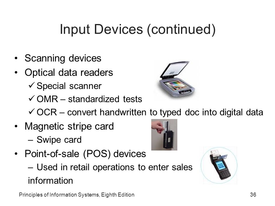 Input Devices (continued)