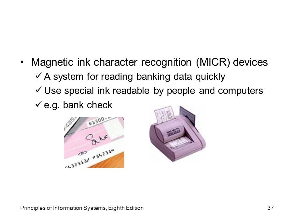 Magnetic ink character recognition (MICR) devices