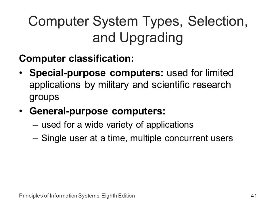 Computer System Types, Selection, and Upgrading