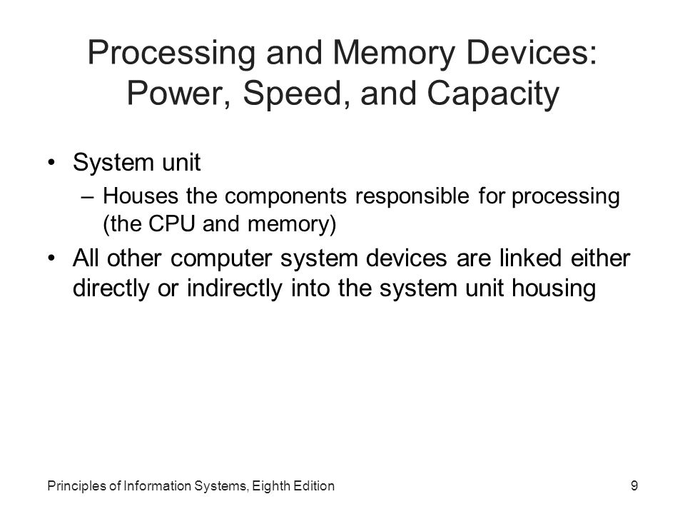 Processing and Memory Devices: Power, Speed, and Capacity
