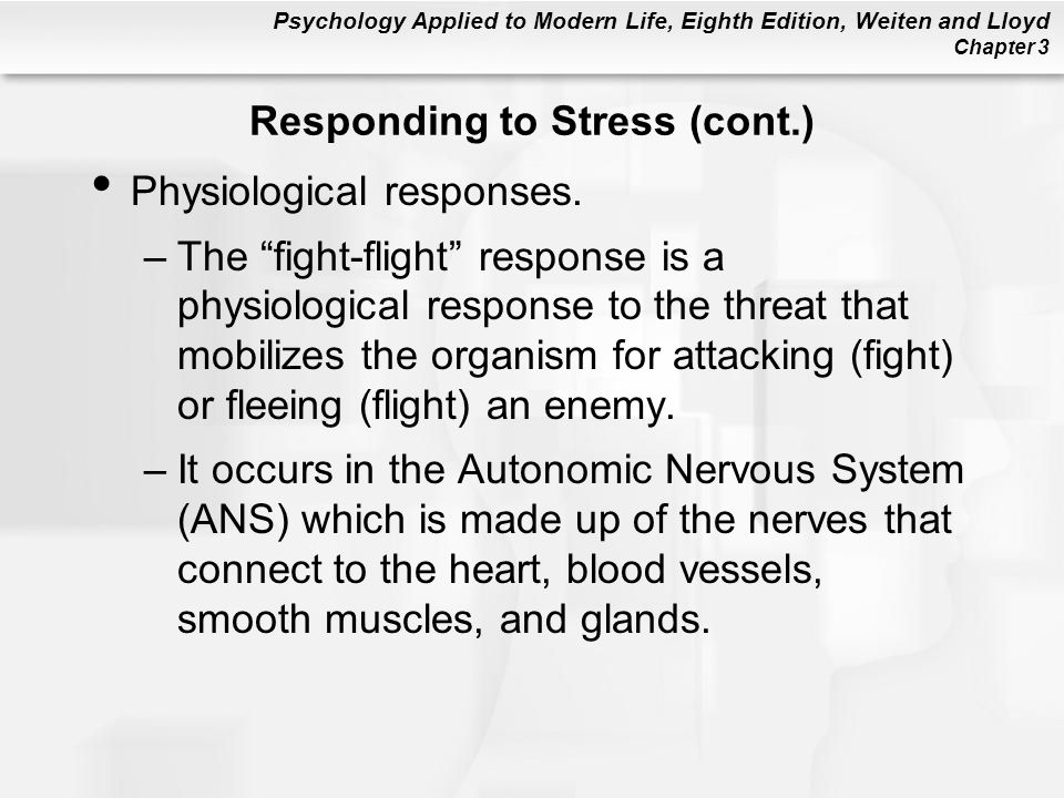 Responding to Stress (cont.)