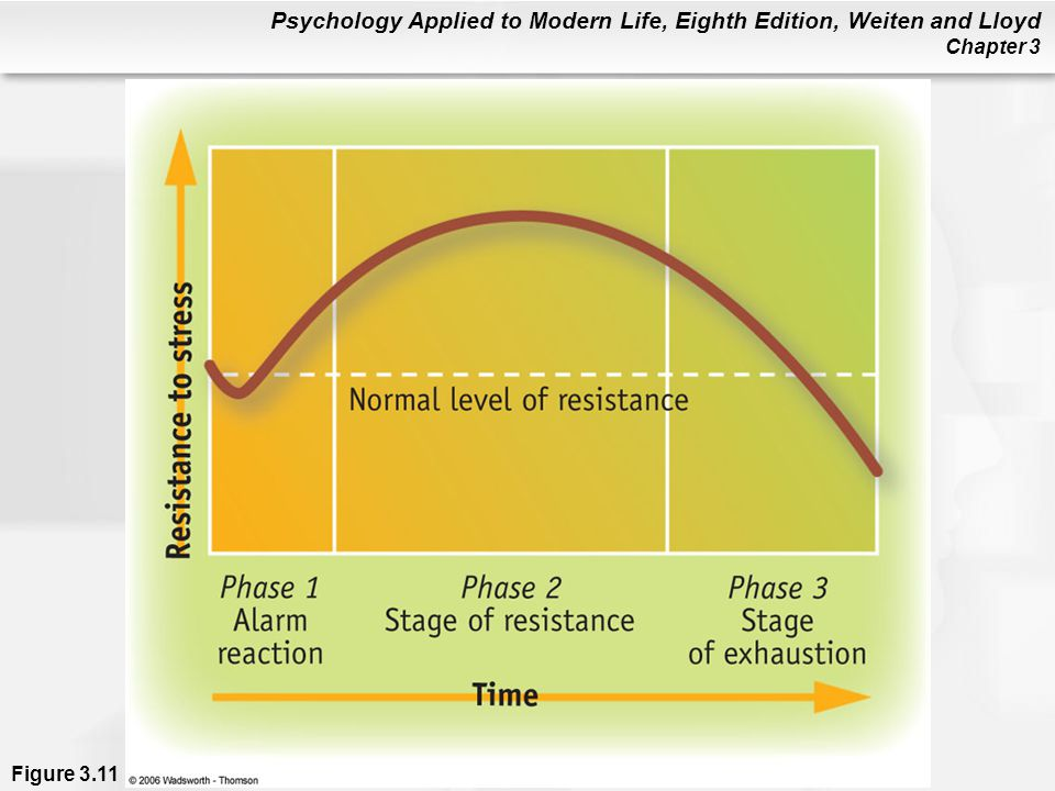 Figure 3. 11 The general adaptation syndrome