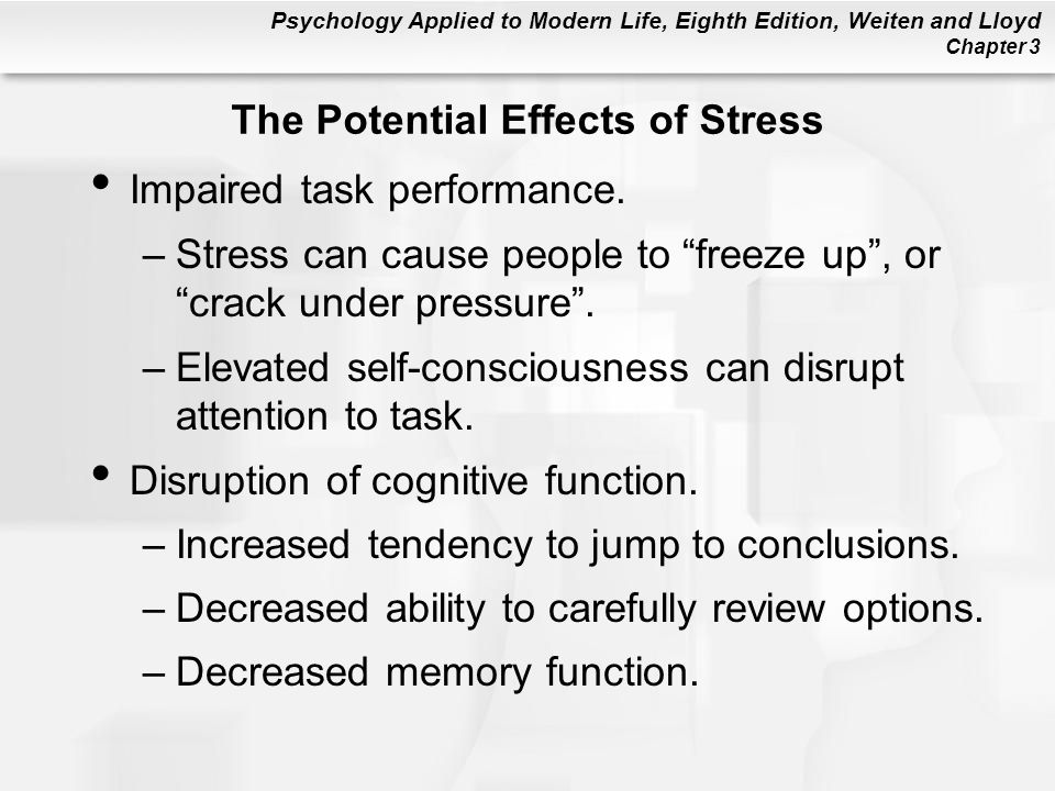 The Potential Effects of Stress