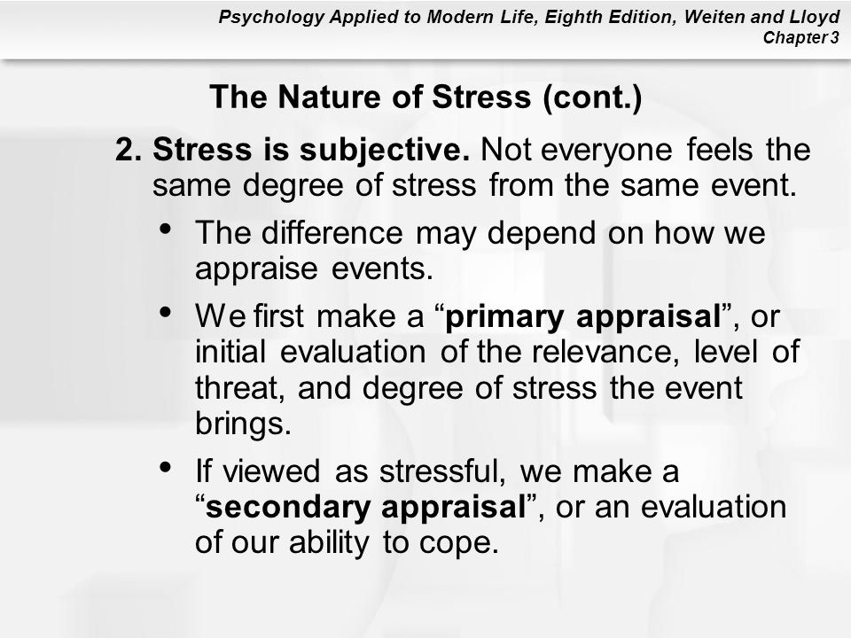 The Nature of Stress (cont.)