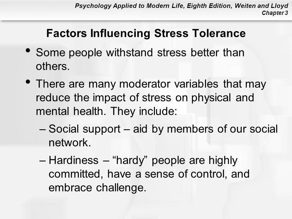 Factors Influencing Stress Tolerance