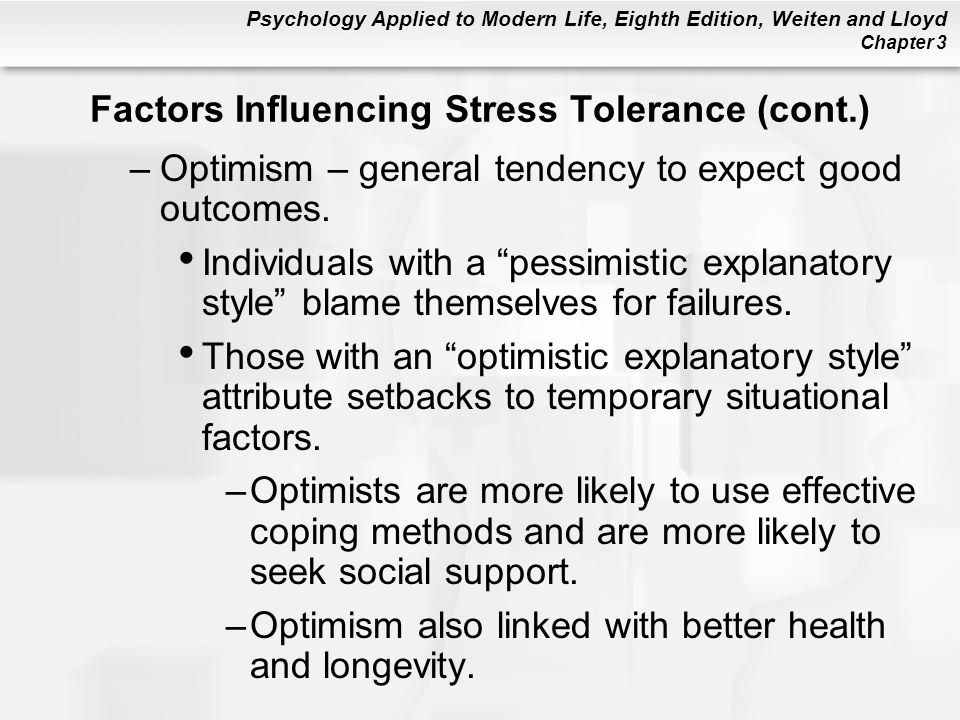 optimism and its effects on mental Researchers continue to explore the effects of positive thinking and optimism on   resistance to the common cold better psychological and physical well-being.
