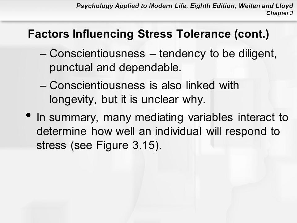 Factors Influencing Stress Tolerance (cont.)