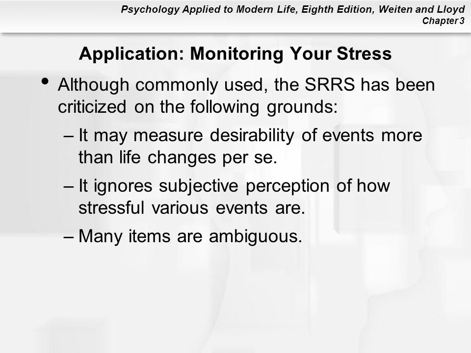 Application: Monitoring Your Stress