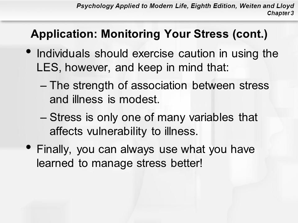 Application: Monitoring Your Stress (cont.)