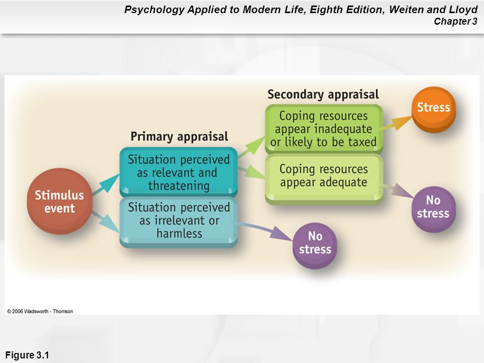 Figure 3. 1 Pathways for primary and secondary appraisal of stress